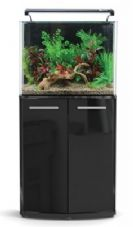 Aqua One AquaNano 80 BOW-FRONTED Aquarium & Cabinet Black