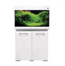 Aqua One AquaVogue 135 Aquarium & Cabinet White Gloss with Grey INTERNAL FILTER