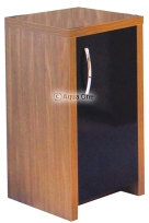 Inspire 40 Cabinet - Walnut / Black Gloss Door from Aqua One