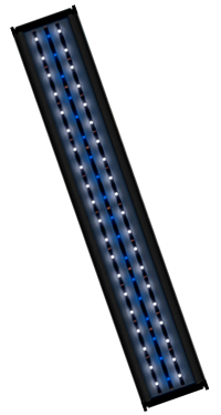 Aqua One 100cm LED RetroGlo White / Blue Lighting Unit - (with timer)