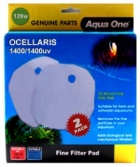Aqua One Wool Pad Twinpack for Ocellaris 1400 / 1400UV - (139w)