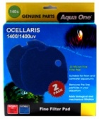 Aqua One Blue Sponge Pad 2 per pack for Ocellaris 1400 / 1400uv - (140s)