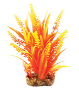 Aqua One Orange Cabomba Plastic Plant (20cm) - 28190