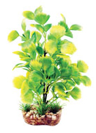Aqua One Yellow Hottonia Plastic Plant (20cm) - 28195