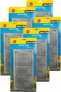 Aqua One (4c) Carbon and Wool Cartridge *** BULK PACK ***