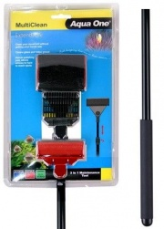 Aqua One Extendable Multiclean Aquarium Scraper & Cleaner Tool