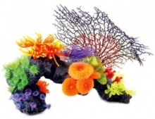 Aqua One Aquarium Decor - Natural Coral Reef with Ferns (41cm)