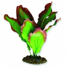 Aqua One Green / Red Amazon Silk Plant - (20cm / 30cm / 40cm)