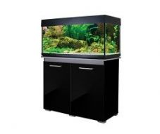 Aqua One AquaVogue 170 Aquarium & Cabinet Black Gloss with Grey EXTERNAL FILTER