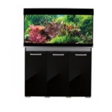Aqua One AquaVogue 245 Aquarium & Cabinet Black Gloss with Grey EXTERNAL FILTER