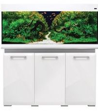 Aqua One AquaVogue 245 Aquarium & Cabinet White Gloss with Grey EXTERNAL FILTER