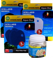 Complete Filter Media Renewal Kit for Ocellaris 850 / 850UV