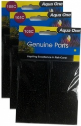 Aqua One (105c) Carbon Cartridge *** TRIPLE PACK ***
