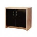 Aqua One Inspire 60 Cabinet Walnut with Black Gloss Doors