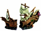 Aqua One Wooden Galleon 42 x 14 x 26cm